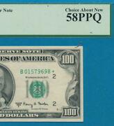 100. 1950-e Scarce Star New York District Federal Reserve Note Pcgs Au58ppq
