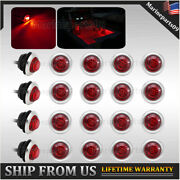 20x Red Updated Navigation Light Led Stainless Waterproof Boat Starboard Lights