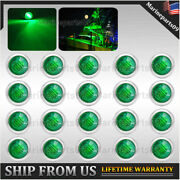 Updated 20x Green Led Navigation Light Stainless Marine Boat Starboard Lights Us