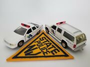 143 Diecast Police Cruisers And Agency Police Patch New Jersey State Police