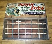 Putnam Fadeless Dyes Wooden Countertop Display