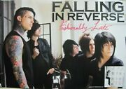 Falling In Reverse 2013 Fashionably Late Promo Poster Flawless New Old Stock