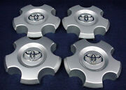 Toyota Sequoia 08-17 Tundra 07-13 Silver Center Caps - 4 - Fits The 18 Wheel