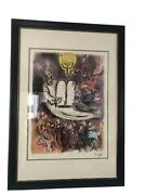 Mark Chagall Lithograph Plate Signed 75/500 The Tablets Exodus 39andrdquo By 27.5andrdquo