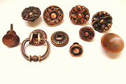 Lot Of 10 Assorted Copper Flash Pulls Knobs Mid Century 1960s