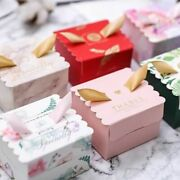 Packaging Paper Candy Gift Boxes With Ribbon Baby Shower Wedding Craft Packages