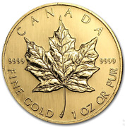 1998 1oz .9999 Canadian Maple Leaf Elizabeth 11 50 Gold Coin Collectible Km191