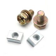 2set Motorcycle Scooter Atv Dirt Bike Battery Terminal Nut And Bolt Screws M5x10