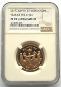 Ethiopia 1972 Year Of Child 400 Birr Ngc Pf69 Gold Coinproof