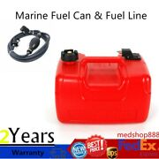 12l Outboard Boat Marine Fuel Can Oil Gas Tank Connector With Fuel Line Portable