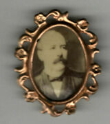 Vintage Political 1904 Alton Brooks Parker Pin Framed Alton Parker Pin