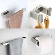 Four Piece Bathroom Accessories Set Stainless Steel Wall Mounted Brushed Nickel