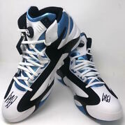 Shaquille Oand039neal Dual Autographed Orlando Magic Rookie Size 22 Shoes Fanatics