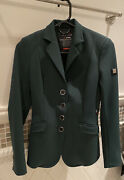 Beautiful Lightly Worn Equiline Green Hunt Coat Size Xs
