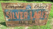 Large Vintage/antique 1930's/40's Silver Label Beer Sign Southern Brewing Co