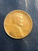 1941 Lincoln Wheat Penny No Mint Mark S D