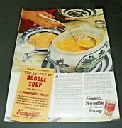 1930and039s Campbelland039s Soup Ad Blue Willow Dishes