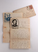 1862 Civil War Letters Nj Volunteers Md And Va Feb And June - Army Of The Potomac
