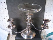 Sterling Frank Whiting 7 1/2 Candleabra With One 6 Glass Nappy