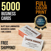 5000 Silk Business Card Full Color Printing On A 16pt With A Silk Lamination