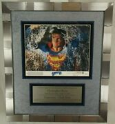 Christopher Reeve Superman Signed Lobby Card Framed Display Jsa Authenticated