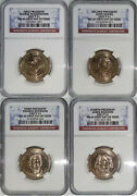 2007 Thru 2010 P And D Mints 1st 14 Presidents 28-coin Set Ngc Ms66 Fdi