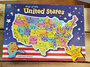 Milton Bradley Map Of The United States Puzzle 84 Pieces, Used