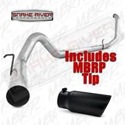 Mbrp 4 Stainless Steel Exhaust 99-03 Ford Diesel 7.3l W Black Tip No Muffler