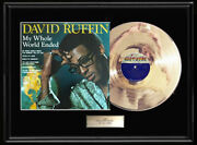 David Ruffin My Whole World Ended White Gold Platinum Tone Record Temptations