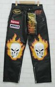 Supreme Vanson Leathers Ghost Rider Pant Black Size 30 W30