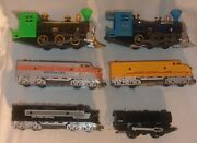 Lot Of 6 Small Ho And Similar Scale Toy Train Locomotives For Parts Untested