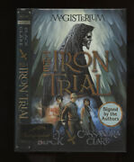Black Holly And Clare Cass Magisterium 1 -the Iron Trial Signed 3x 1st/1st