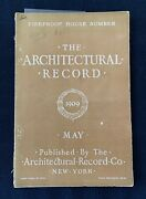 Architectural Record 1909 Fireproof House Edition Clinton House Tuxedo Park