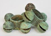 2000 - 2500 Years A Pair Of Dong Son Bronze Bangles With Bells