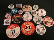Huge Lot 17 Vintage Indy 500 Related Pins/buttons R620