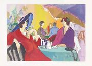 Isaac Maimon Cafe Select 1989 | Large Signed Serigraph 29x41 | Make An Offer