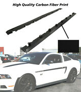 Fits 10-14 Ford Mustang New Roush Style Side Skirts Bodykits 2pc-carbon Look