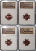 2009 Lincoln Bicentennial Cent / 4-coin Set With 4 Reverse Varieties Ms66 Fdi