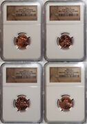 2009 Lincoln Bicentennial Cent / 4-coin Set With 4 Reverse Varieties Ms67 Fdi