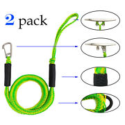 Dock Lines 2 Pack Bungee Cord Built-in With Hook For Boat Docking 4 - 5.5 Ft
