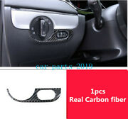Real Carbon Fiber Front Headlight Switch Button Cover For Vw Jetta Mk6 2011-2018