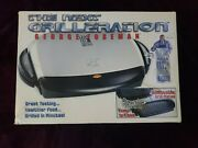 George Foreman Grp4p Indoor Grill Electric Gray Removable Plates Drip Tray