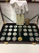 25 1 Oz Silver Coins .999 Silver - In Display Box - See Details Gd 8/20
