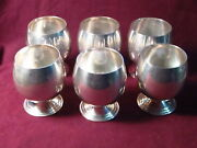 Baldwin And Miller 54 Sterling Set 6 Cordials Goblets 2 3/4 X 2 1/2 391g No Mon