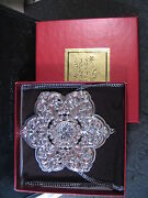 Lenox 2005 Sterling And Crystal Snowflake Ornament Mib 2nd Annual
