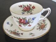 Royal Victoria Bone China Floral Cup And Saucer Trimmed In Gold Made In England