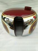 Royal Enfield J,g Models 1946 Chrome And Red Painted Gas Fuel Petrol Tank
