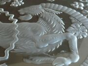 C1956 Signed Lalique France Berbere Glass Charger 15.5 Find Another