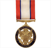 Genuine U.s. Full Size Medal Army Distinguished Service - 24k Gold Plated