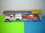 Vintage Tim Mee Toy Pick Up Truck Trailer And Boat W/box Nos New Old Stock Rare